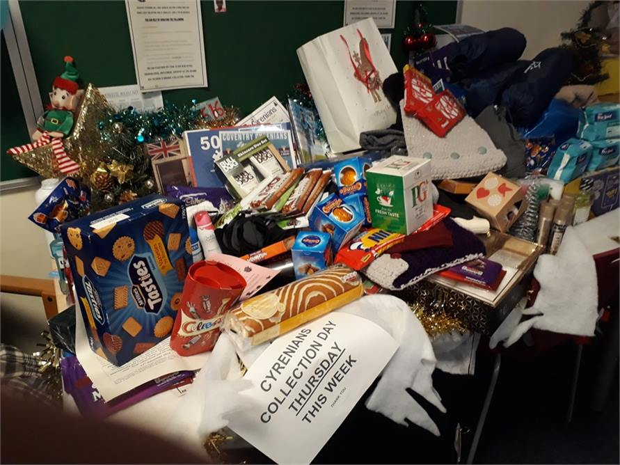 Job Centre table of Donations 2019