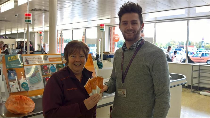 Sainsburys Xmas Donation 2017